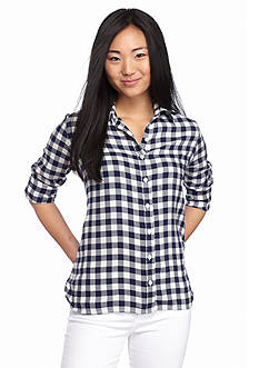 Red Camel Plaid Buttoned Shirt