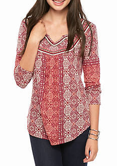 Red Camel Embellished Knit Top