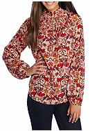 Red Camel® Smock High Neck Blouse