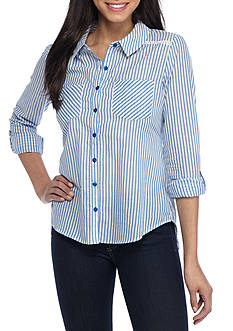 Red Camel Tunic Stripe Shirt