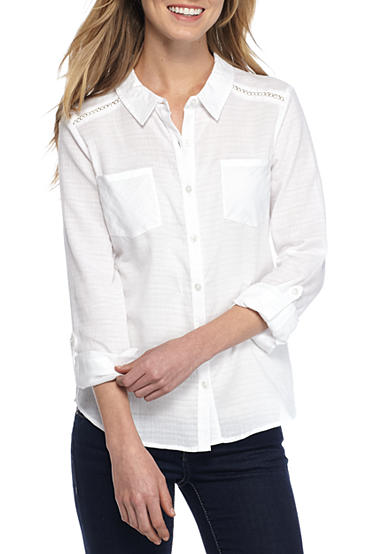 Red Camel® White Button Down Shirt