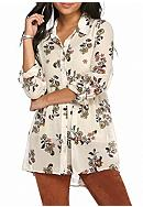 Red Camel® Floral Extreme High Low Tunic