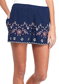 Red Camel Embroidered Shorts