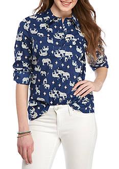Red Camel Elephant Printed Shirt