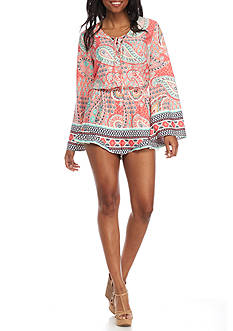 Red Camel Long Sleeve Romper