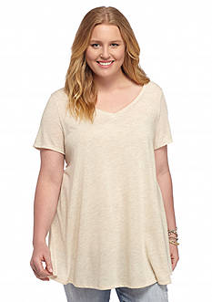 Red Camel® Plus Size Slit Swing Tee