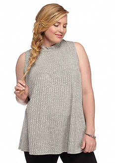 Red Camel® Plus Size Mock Neck Sweater Tank