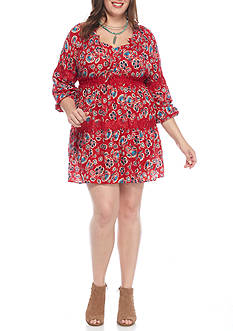 Red Camel Juniors Plus Printed Dress