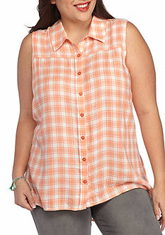Red Camel® Plus Size Plaid Tunic