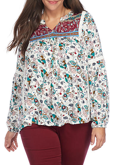 Red Camel® Juniors Plus Floral Tunic
