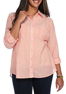 Red Camel® Plus Size Tunic Stripe Shirt