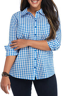 Red Camel Plus Size Gingham Shirt