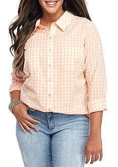 Red Camel® Plus Size Gingham Shirt