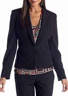 Anne Klein Single-Breasted Jacket