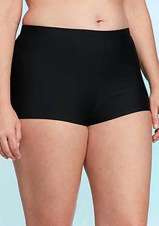 Malibu Dream Girl Plus Size Solid Swim Short
