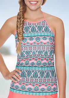 Malibu Dream Girl Provence Stripe Halterkini Swim Top