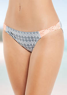 Malibu Dream Girl Diamond Ditsy Low Rise Hipster Swim Bottom