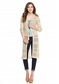 It's Our Time Long Pointelle Cardigan