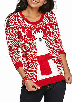 It's Our Time Llama Christmas Tunic Sweater