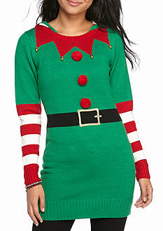 It's Our Time Happy Elf Tunic Sweater