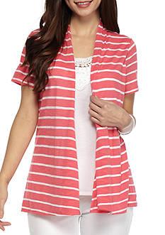 Kim Rogers Petite Size Stripe 2Fer Top