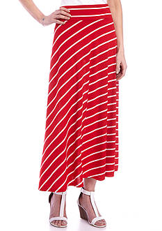 Kim Rogers® Long Stripe Knit Skirt