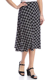 Kim Rogers® Short Knit Print Skirt