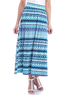 Kim Rogers® Long Knit Print Skirt