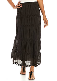 Kim Rogers Woven Lace Skirt