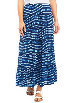 Kim Rogers Printed Tie Dye Crinkle Skirt