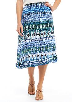 Kim Rogers Printed Medallion Crinkle Skirt