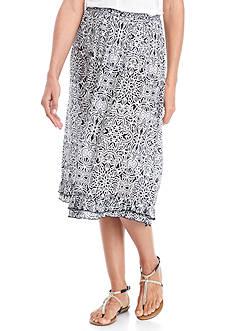 Kim Rogers Printed Chandelier Crinkle Skirt