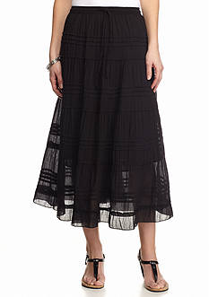 Kim Rogers® Solid Tiered Skirt