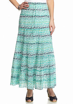 Kim Rogers® Floral Tiered Skirt