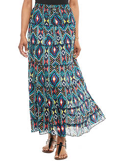 Kim Rogers® Printed Tiered Skirt