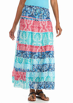 Kim Rogers® Printed Voile Tiered Skirt