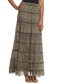 Kim Rogers® Printed Tiered Maxi Skirt