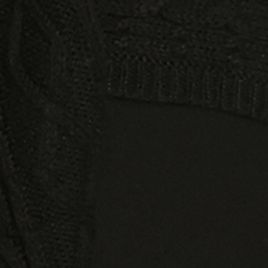 Black Plus Size Sweaters: Black Kim Rogers Pointelle Border Cardigan