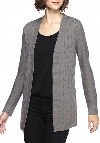 Kim Rogers® Open Detailed Cardigan