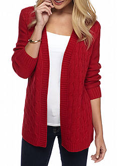 Kim Rogers Open Detailed Cardigan