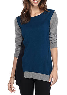 Kim Rogers Long Sleeve Pull On Asymmetrical Hem Top
