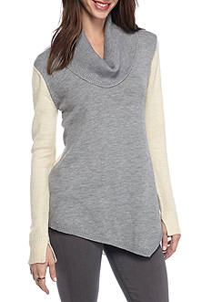 Kim Rogers Cowl Neck A-Line Sweater