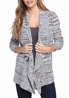 Kim Rogers Space Dye Front Cardigan