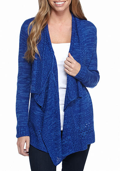 Kim Rogers® Space Dye Front Cardigan