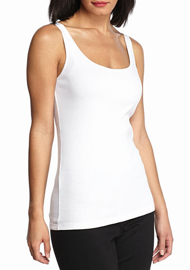 Eileen Fisher Scoop Neck Long Slim Tank