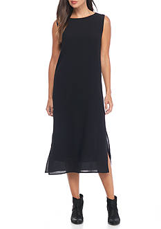 Eileen Fisher Sleeveless Textured Midi Dress