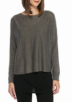 Eileen Fisher Ballet Neck Knit Top