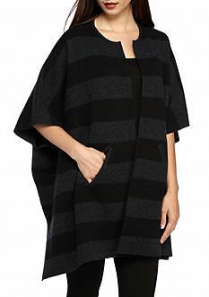 Eileen Fisher Wide Stripe Poncho