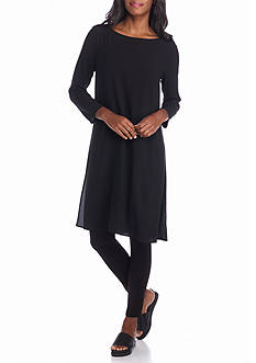 Eileen Fisher Solid Woven Dress