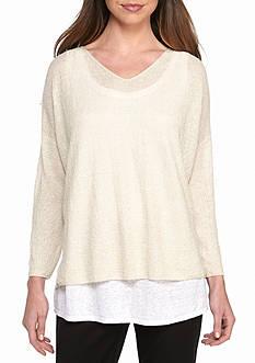 Eileen Fisher Bateau Neck Knit Sweater